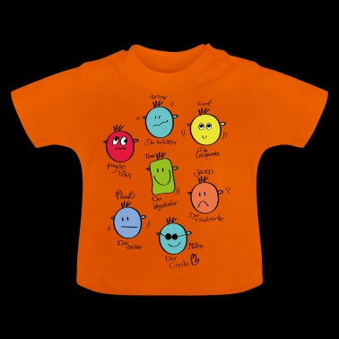 emoticones - Camiseta bebé
