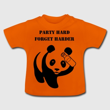 panda party hard forget harder - Baby T-Shirt