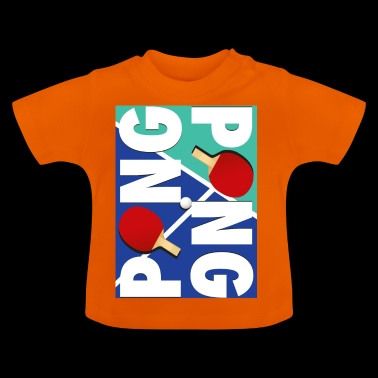 Ping Pong Racket Sports Design - Baby-T-shirt