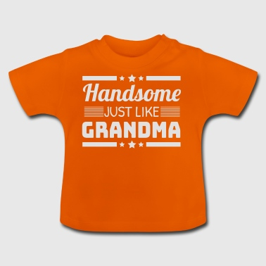 Pretty as the grandma granny grandmother birth gift - Baby T-Shirt