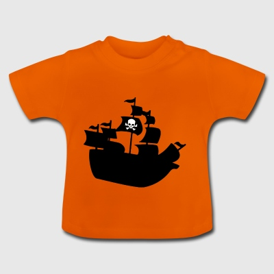 Piratenschiff - Baby T-Shirt