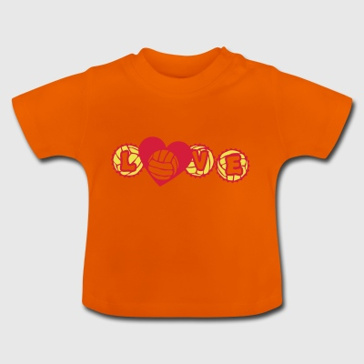 volley waterpolo love capsule heart hear - Baby T-Shirt