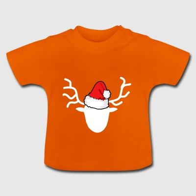 Merry Christmas | Hirschgeweih deer head deer - Baby T-Shirt
