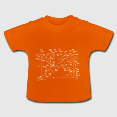 1974 Internet Map - White - Baby T-Shirt