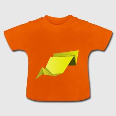 origami paper plane paper airplane37 - Baby T-Shirt
