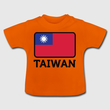 Nationalflagge von Taiwan - Baby T-Shirt