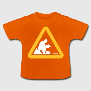 Waarschuwing: Lazy Worker - Baby T-shirt
