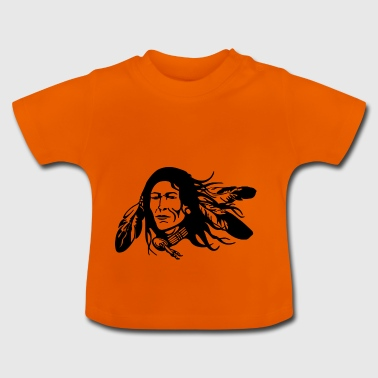 Indian with feathers - Baby T-Shirt