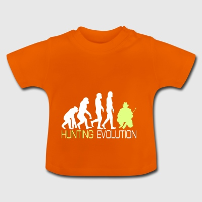 Evolution - Hunting T-shirt voor jagers Gift - Baby T-shirt