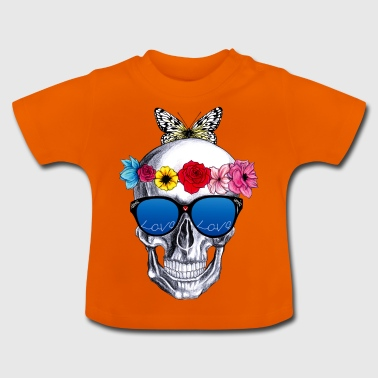 blomster kranie - Baby T-shirt