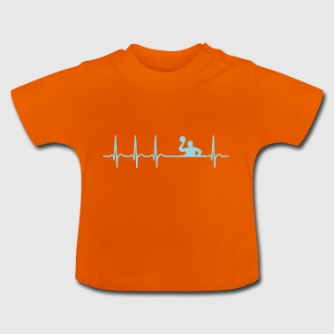 Heartbeat waterpolo club team Club Cool grappig - Baby T-shirt