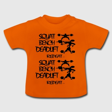 REPEAT Powerlifting leven - Baby T-shirt