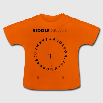 Riddle Clock Unicorn - Baby T-Shirt
