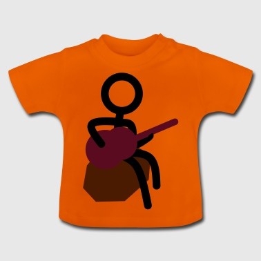 Guitarist at the campfire - Baby T-Shirt