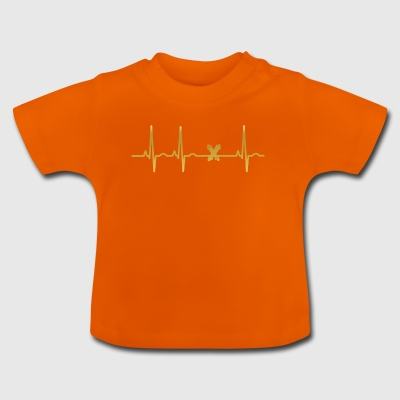 evolution ekg heartbeat Legendary Longboard - Baby T-Shirt
