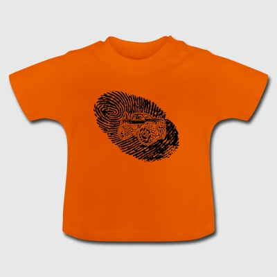 fingerprint dns dna gift Big Foot monster tr - Baby T-Shirt