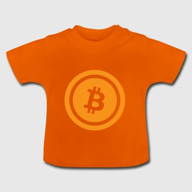bitcoin orange - cryptocurrency - Baby T-Shirt