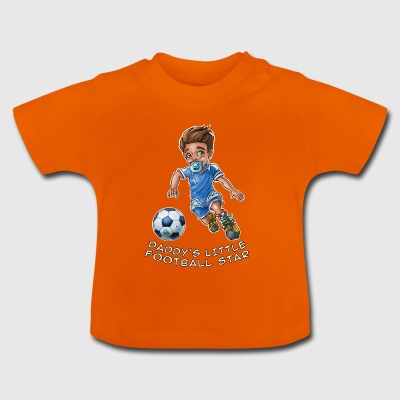 Daddy's little football star - baby footballer - Baby T-Shirt