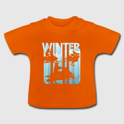Vintage Winter Snowmobile. Sports gifts. Christmas - Baby T-Shirt
