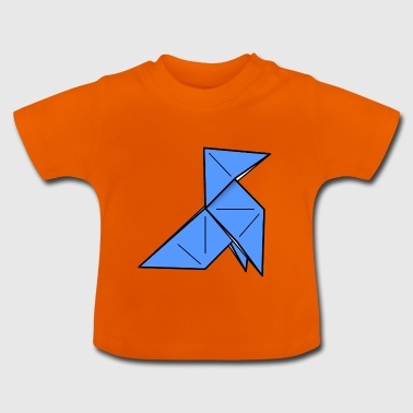 origami paper plane paper airplane6 - Baby T-Shirt