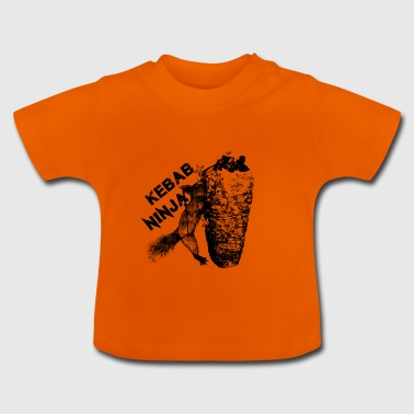 Kebab Ninja Squirrel - T-shirt Bébé