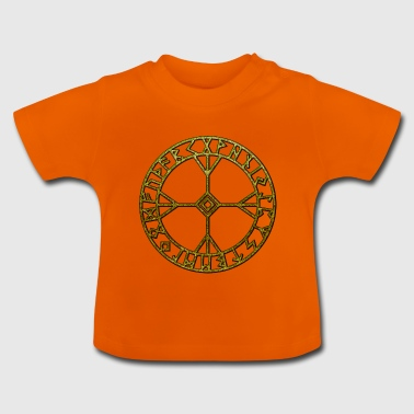 Rune Algiz Amulet Viking Lucky Charm Protection - Baby-T-shirt