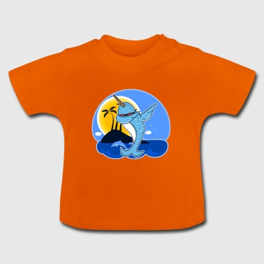 Funny Narwhal Dab Shirt - Baby T-Shirt