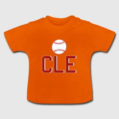 Cleveland Baseball Throwback CLE - T-shirt Bébé