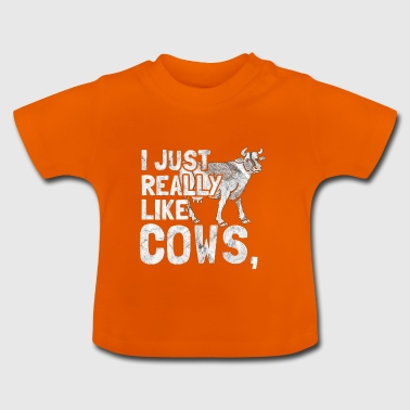 I Love Cows - gift for a farmer - Baby T-Shirt