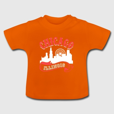 Chicago Illinois Vintage Stad - Baby T-shirt