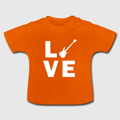 Love Bass Guitar - Baby T-Shirt