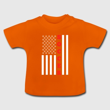 American Flag for Soccer Ball American - Baby T-Shirt