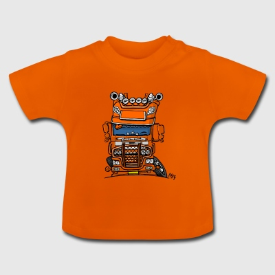 0613 daf fx on the road oranje - Baby T-shirt