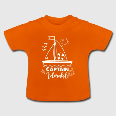 Captain Adorable. Gifts for babies and kids. Sea - Baby T-Shirt