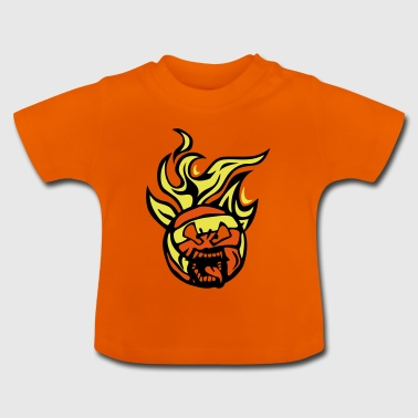 volleyball waterpolo cartoon 01 face flam - Baby T-Shirt