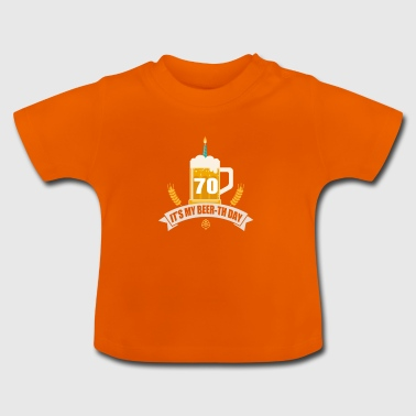C'est ma bière th Day 70 Years Old - T-shirt Bébé