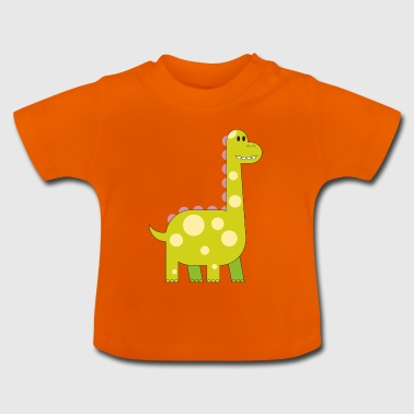 happy dinosaur cuddly toy child sweet primal time - Baby T-Shirt