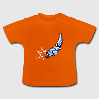 Comic tändstifts blå - Baby-T-shirt