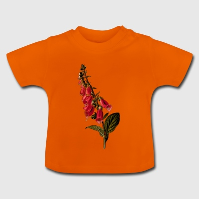 Foxglove Illustration - Baby-T-shirt
