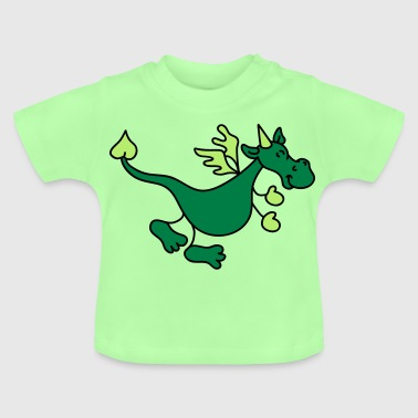 Cute Green Dragon - Baby T-Shirt