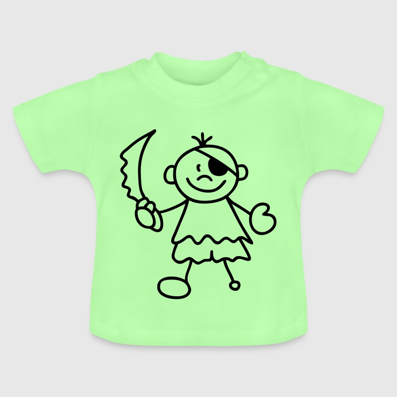 Türkis Sweet litle Pirate Kinder T-Shirts - Baby T-Shirt