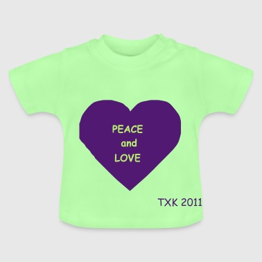 coeur_peace_n_love - T-shirt Bébé