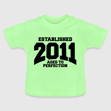 aged to perfection established 2011 (sv) - Baby-T-shirt