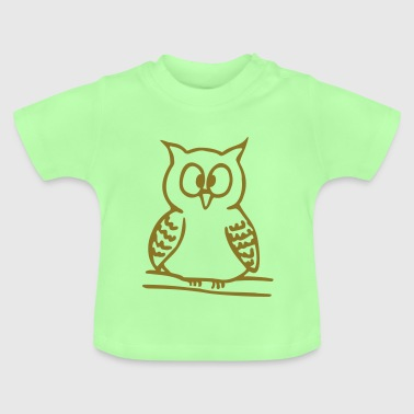 Animal chouette 7 - T-shirt Bébé