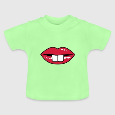 Buck teeth and red lips - Baby T-Shirt