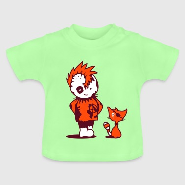 A little punk with a little cat - Baby T-Shirt