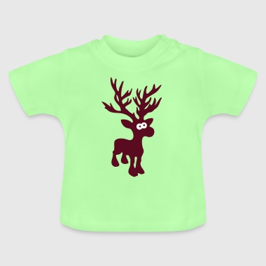 cute moose caribou reindeer deer christmas norway rudolph rudolf winter scandinavia canada - Baby T-Shirt