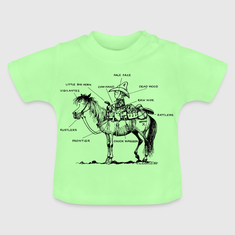 Thelwell 'Learning Western riding' - Baby T-Shirt