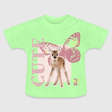 Animal Planet Cute Reh mit Schmetterling - Baby T-Shirt