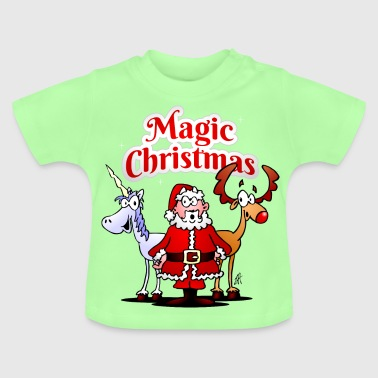 Magic Christmas unicorn - Baby T-Shirt